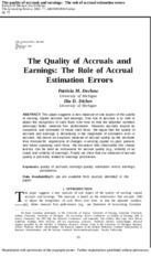 10. The quality of accrual and earning - Dechow_Dichev_TAR_2002.docx