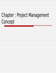 Chapter 7 Project Management concept.ppt