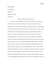 jane eyre essay final professor kineke fukunagas take on the  7 pages jane eyre feminist essay
