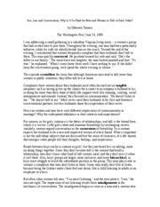 Sex lies and conversation essay