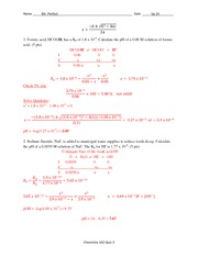 Quiz 3 Solution Spring 2014 on General Chemistry