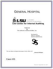 ACCT 3233 : Internal Auditing I - Louisiana State University -