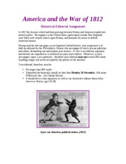 War of 1812 Editorial 2007