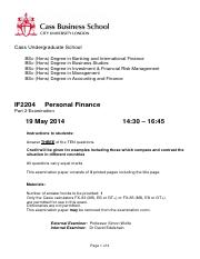 IF2204 - Personal Finance Questions - May 2014