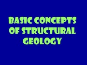 Basic Concepts of Structural Geology