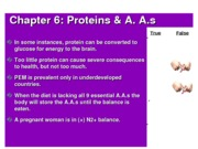 11 NF 25 Chap 6 Proteins & AA - shortened Copy