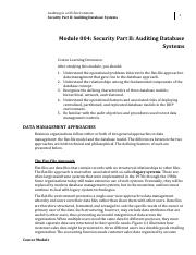 Module 4 Security Part II Auditing Database Systems.pdf