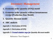 Topic 1 Inventory Management