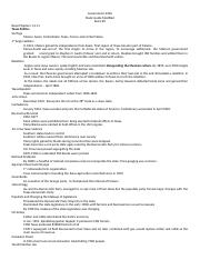 Government 2306 Exam #2 study guide