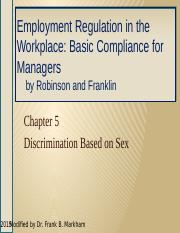 Employee Relations, Ch  05 Sex Discrimination, 2ed HO (1)