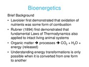 Lecture 33 and 34 Bioenergetics