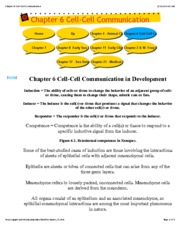 Chapter 6 Cell-Cell Communication