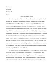Lord of the Flies Final Paper Example