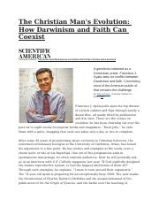 Darwinism and Faith can Coexist