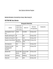 Data Collection Worksheet Template