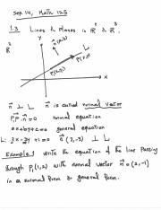 Lecture Notes, Sep. 14, Math 125