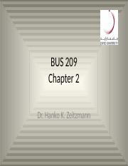 BUS 209 Chapter 2 HZ