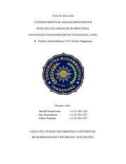 Contoh Proposal Manajemen Proyek Tugas Kuliah Contoh Proposal