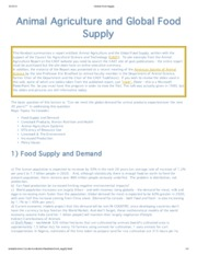 Global Food Supply