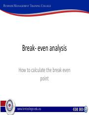Break- even analysis (2)
