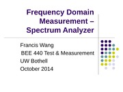 Lecture  Spectrum Analyzer