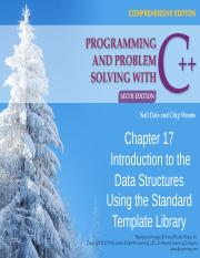 CSC 511 - 01 - CHAPTER 17 - INTRODUCTION TO THE DATA STRUCTURES USING THE STANDARD TEMPLATE LIBRARY.