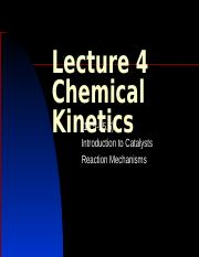 Lecture 4  Chemical Kinetics