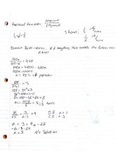 Rational-Radical Functions