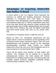 Advantages of Exporting ElektroTEK Ham Radios To Brazil.docx