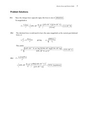 7_Ch 15 College Physics ProblemCH15 Electric Forces and Electric Fields
