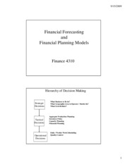 Financial Forecasting and Planning Model