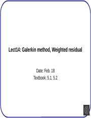 Lect14+Galerkin+method+Weighted+residual