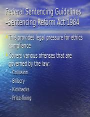 (New) Federal Sentencing Guidelines – Sentencing Reform Act 1984.ppt