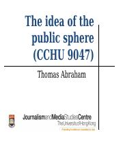 The idea of the public sphere.ppt