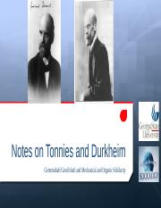 Notes on Tonnies and Durkheim Fall 2015.pptx