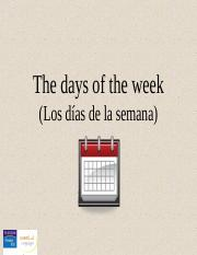 CH01_3. The days of the week