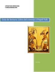 1 Guia Lectura Popol Vuh 1 Pdf Literatura Mexicana E