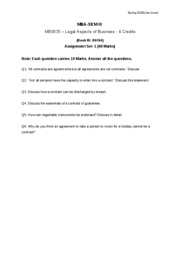 MB0035 LEGAL ASPECTS OF BUSIENSS