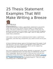 25 Thesis Statement Examples That Will Make Writing a Breeze.docx