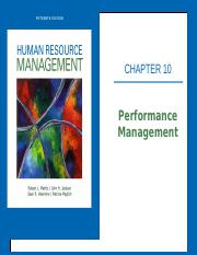 Ch. 10 - Performance Management (POSTED Version)