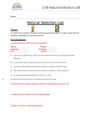 2.08 Natural Selection Lab Semester 2.docx