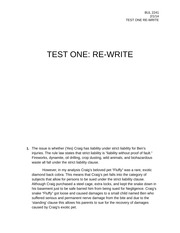 TEST ONE rewrite