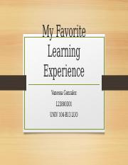 My Favorite Learning Experience.pptx