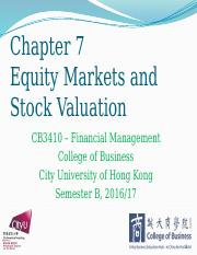 Chapter 7 Equity Markets and Stock Valuation.pptx