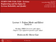SYSEN 5300 Lec3_Failure Mode and Effect Analysis