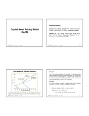 Lecture 9 - Capital Asset Pricing Model
