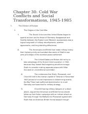 Cold War Conflicts and Social Transformations, 1945-1985.docx