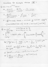 Sample Exam 2 Solution