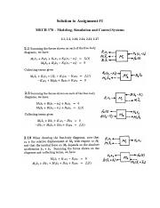 MECH370_Assignment#1-10_with Solutions_W2015