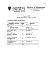 Syllabus Mgmt 1000 - Fall 2010